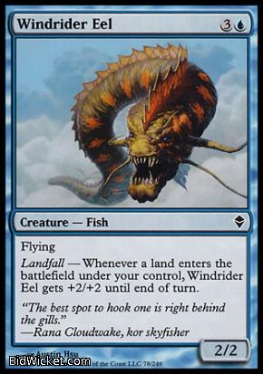 Windrider Eel, Zendikar, Magic the Gathering