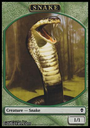 Snake (Token), Zendikar, Magic the Gathering