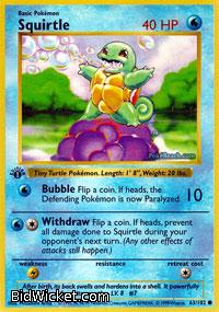 Squirtle, Base Set, Pokemon