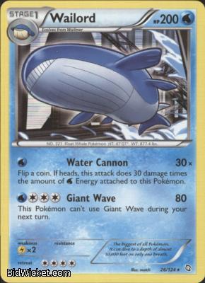 Wailord,Black & White Dragons Exalted, Pokemon