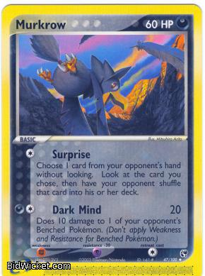 Murkrow, EX Sandstorm, Pokemon