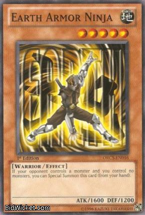 Earth Armor Ninja, Order of Chaos, Yu-Gi-Oh