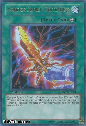 Inzektor Sword - Zektkaliber, Order of Chaos, Yu-Gi-Oh