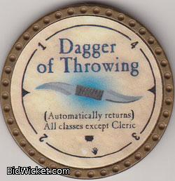 Dagger of Throwing, Special Tokens, True Dungeon Tokens