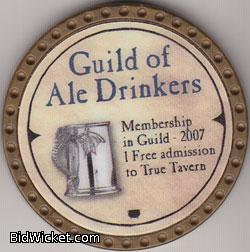 Guild of Ale Drinkers, Special Tokens, True Dungeon Tokens