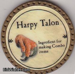 Harpy Talon, Special Tokens, True Dungeon Tokens