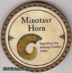Minotaur Horn, Special Tokens, True Dungeon Tokens