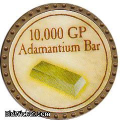 10,000 GP Adamantium Bar, Special Tokens, True Dungeon Tokens