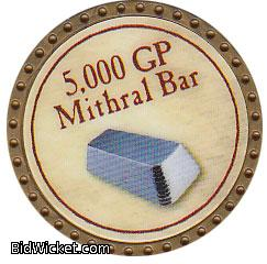 5,000 GP Mithril Bar, Special Tokens, True Dungeon Tokens