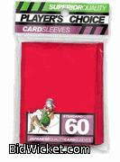 Player's Choice Yu-Gi-Oh Sleeves Pack of 60 in Red