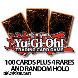 100 Assorted Yugioh Cards Plus 4 Rares and Possible Random Holo