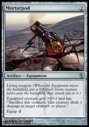 Mb game magic the gathering rarity uncommon card text living weapon