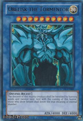 Obelisk The Tormentor God Card